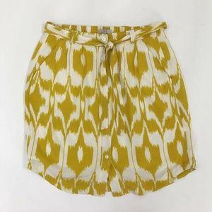 Ann Taylor Loft Gold Button Up Pencil Skirt XST